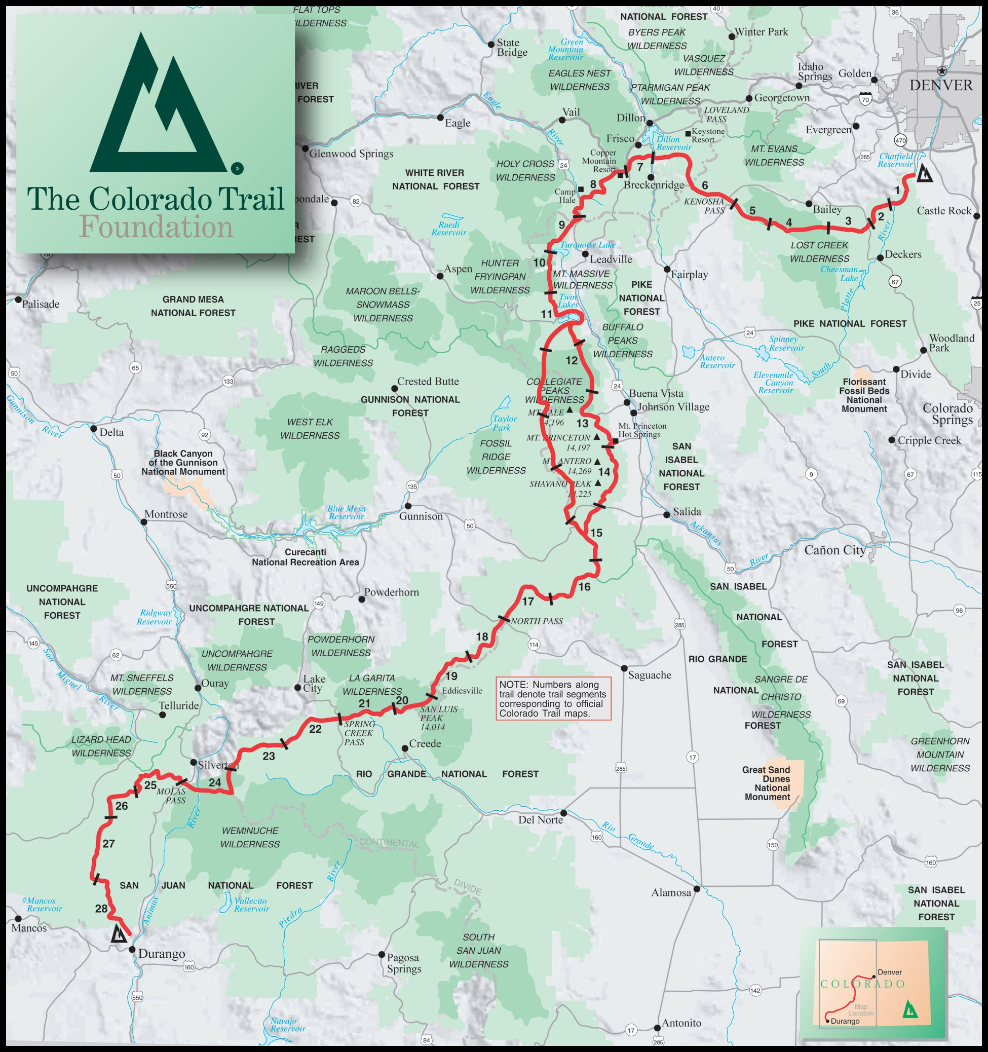 The Colorado Trail - 485 miles, Denver to Durango